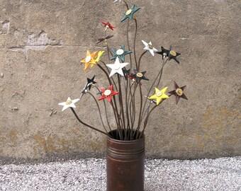 Yard Art Metal Flower Garden Stake Office Decor Vase Filler Table Centerpiece Arrangement Texas Gift Cast Iron Star Shotgun