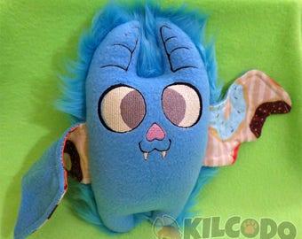 Handmade Embroidered Bat Plush - Original Doll - by Kilcodo