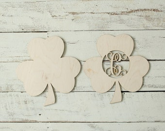 Shamrock Cutout Wreath Making Supplies Shamrock Saint Patricks Day Sign Door Hanger