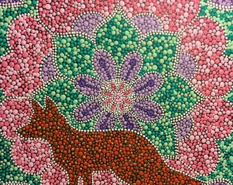 "Fox Mandala Painting | 12X12 | Wall Art | Home Decor | Acrylic | ""You've Got Soul"" 