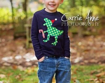Kids Christmas Shirt, Boys Christmas Shirt, Dinosaur Christmas Shirt, Christmas Shirts for Boys, Christmas Outfit, Christmas Shirt Toddler