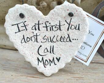 Mother's Day Gift for Mom Salt Dough Ornament Birthday / Christmas