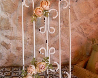 Wrought iron fence with roses-Dollhouse - Miniature