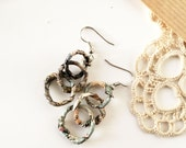 Paper earrings, hoop earrings, dangling earrings, paper jewelry, recycled jewelry, recycled paper, paper art earrings, quirky earrings, eco
