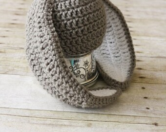 Baby Bunny Hat, Crochet Bunny Hat, Baby Rabbit Hat, Crochet Rabbit Hat, White Rabbit Hat, Easter Bunny Hat, Baby Girl Hat, Baby Boy Hat