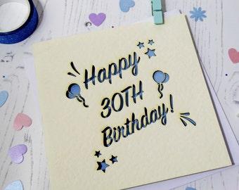 Special Age Birthday Laser Cut Card