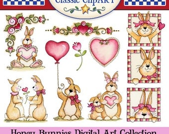 Valentine Clipart, Laurie Furnell, Valentine Bunnies, Valentines Day Cards, Valentine Day Printables, Valentines Graphics, Cute Bunnies