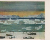 """Rockwell Kent """"November in Northern Greenland"""" Postcard - 1963. Condition 8/10"""