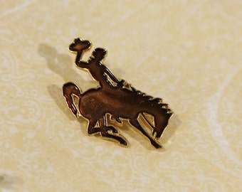 Silhouette Rodeo Rider Fashion Pin / Brooch