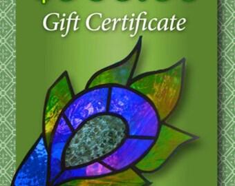 Gift Certificate 300.00  Stained Glass Window Custom Panel Art Glass etc.