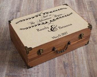 Personalized Wedding Card Box, Wooden Keepsake Box, Wooden Chest, Rustic Wedding Card Box, Customisable Card Box, Memory box, Wedding cards