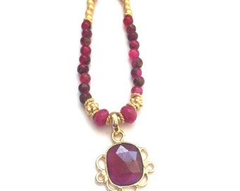 RAJ Garnet + Ruby INDIA necklace