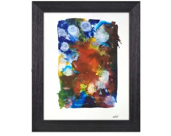 Original Abstract Watercolor On Paper. 11x14 Inch Abstract Wall Art. Abstract Watercolor Painting. Abstract Painting. Abstract Art Decor