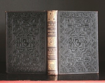Antique book, American History book, vintage leather book