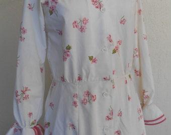Vintage Robe Albert Nippon for Swirl Full Length Cotton Blend
