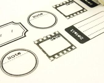 Taking Notes - Japanese Washi Masking Tape - 30mm wide - 5.5 Yard