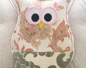 Essential Oil Fabric Owl diffuser Pillow