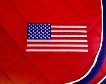 Ultimate USA Flag Embroidered Saddle Pad - 3 Sizes