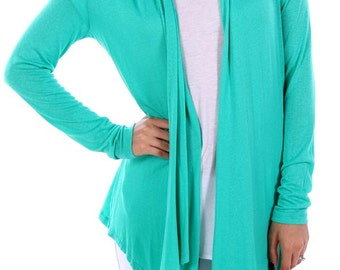 Green Drape Cardigan