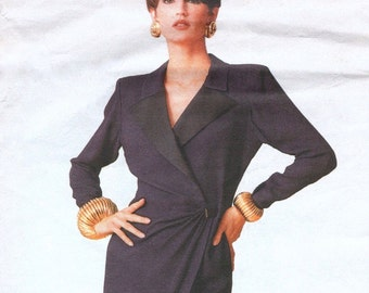 1980s Yves Saint Laurent wrap dress pattern -- Vogue Paris Original 2363