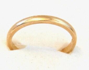 14K Yellow Gold Wedding Band, Antique, Art Nouveau, Circa 1919, Stacking Ring