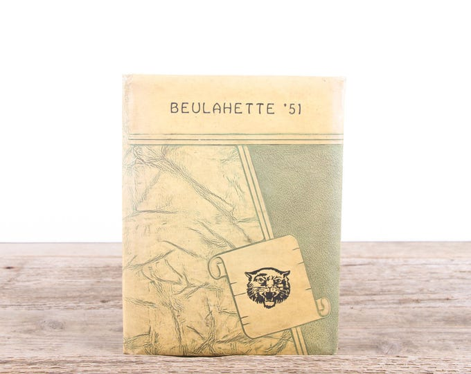 Vintage 1951 Year Book / Beulah Alabama School Yearbook / Classic 1950's Year Book / Southern 1950's Americana / Student Photos Sports