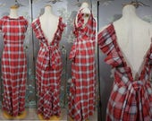 RESERVED..... 1930s NRA LABEL Cotton maxi dress by Lord and Taylor copyrighted 1934
