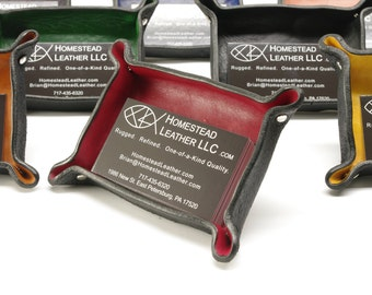 Leather Business Card Display Stand