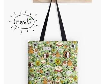 Guinea Pig Bag, Guinea Pig Tote, Guinea Pig Gifts, Cute Guinea Pig Gift, Guinea Pig Purse, Cute Guinea Pig Bag, Guinea Pig Design