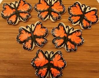 Monarch Butterfly Cookies (1 dozen)