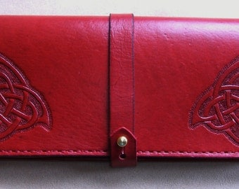 Red Celtic Knotwork Large Wallet