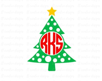 "Shop ""monogram christmas tree svg"" in Scrapbooking Supplies"