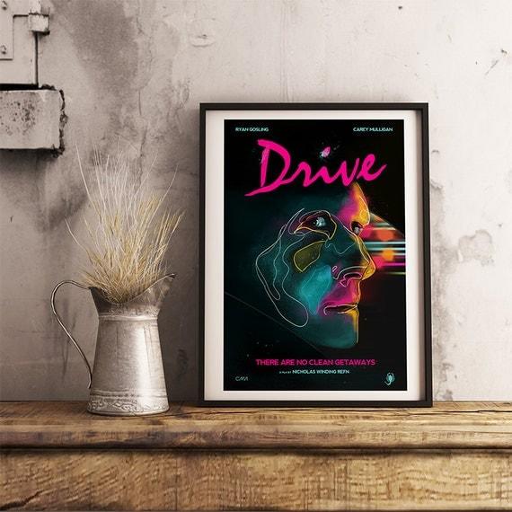 Drive Movie Poster art print - Movie poster print memorabilia- print home wall decor