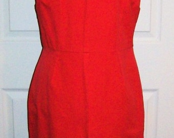 Vintage Ladies Red Sleeveless Dress by Banana Republic Size 12 Only 10 USD