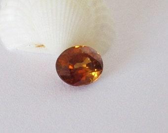 Golden Brown Zircon 7x6mm 2.10cts