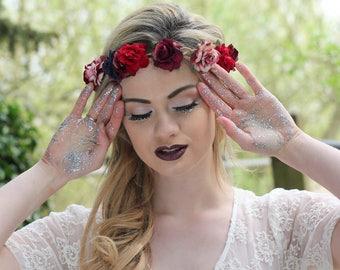 Mixed rose hairband,  summer flower crown, rose headband