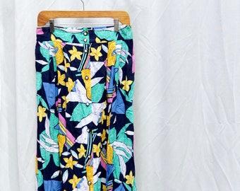 Farini vintage long high-waist multicolored skirt