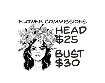 Flower Portrait Commissions