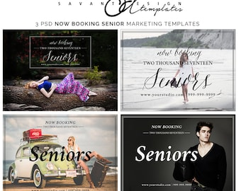 Now Booking Senior Marketing Photoshop Template, Senior Marketing Overlay for photographers, INSTANT DOWNLOAD, SM201