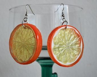 Orange Slice Earrings plastic fruit