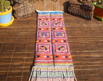 Embroidered Vintage Textile, Cross Stitch Textile, Tribal Textile, Vintage Textile, Hmong Vintage Textile, Hmong Textile