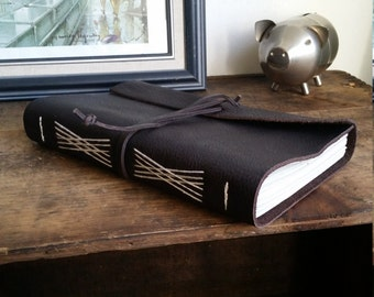"""Handmade Leather Journal, 6"""" x 9"""" Brown Journal by The Orange Windmill on Etsy 1699"""