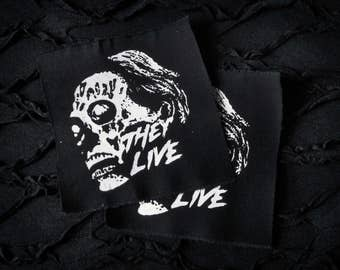 NEW! They Live Alien Horror Punk Patch