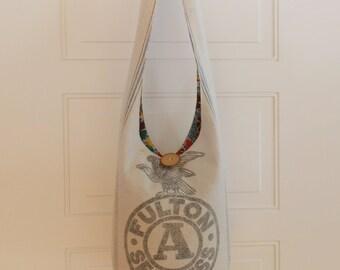 Hobo Bag Boho Bag Crossbody Bag Sling Bag Hippie Purse Vintage Fulton Grain Sack Vintage Hippie Purse Vintage Hobo Bag Rustic Handmade Purse