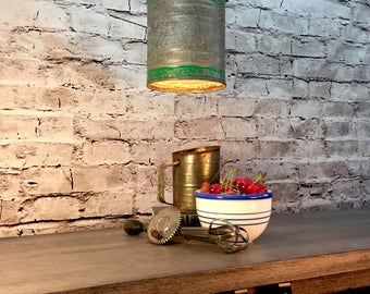 Lighting-Industrial Lighting - Vintage Kerosene Can Hanging Lighting - Ceiling light
