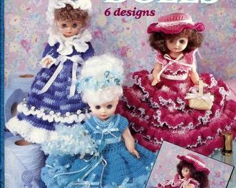 Bathroom Tissue Doll Dresses Size 8 Doll Crochet Instruction Booklet American School of Needlework