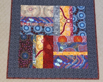 Table Topper or Wall Quilt in Aboriginal Fabrics