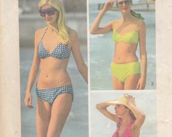 1970s Bikini & Shorts Pattern Simplicity 5576 Size 16/18