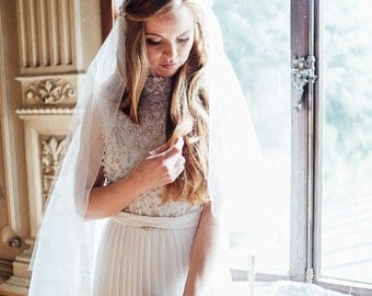 Wedding Veil cathedral, Ivory tulle Juliet Cap Veil, Vintage Inspired Cap Veil, Downton Abbey Style Veil, The Juliet Cap Veil, style #125