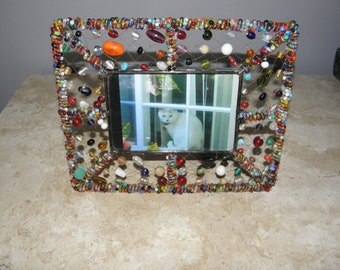 Colorful Glass Beaded Picture Frame, 10 x 8